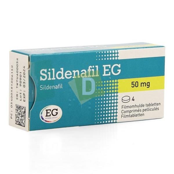 Sildénafil EG 50 mg x 4 Comprimés