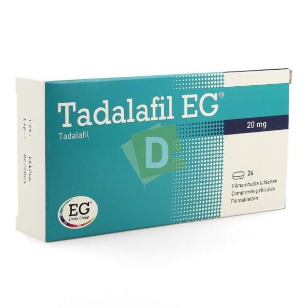 Tadalafil EG 20 mg x 24 Comprimés pelliculés