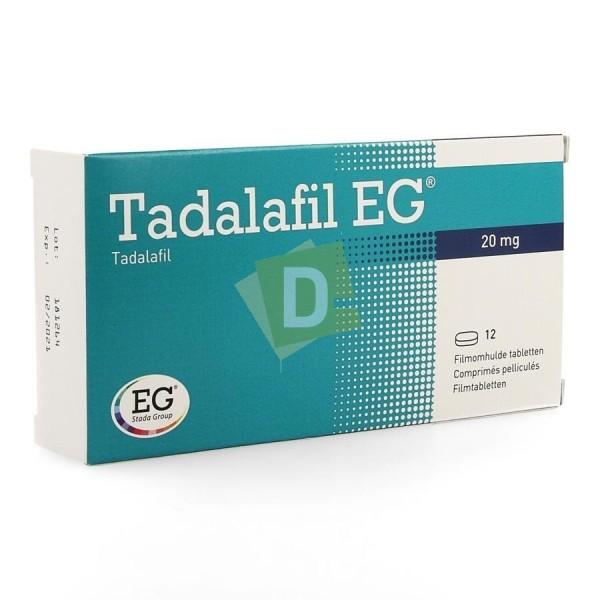 Tadalafil EG 20 mg x 12 Comprimés pelliculés