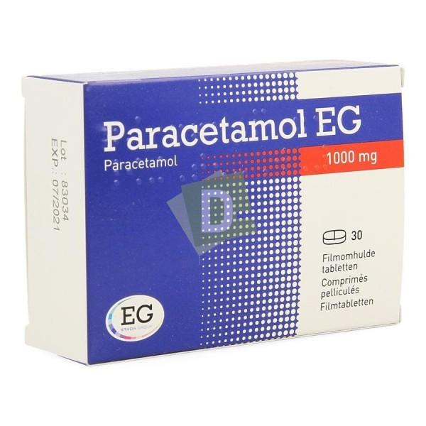 Paracétamol EG 1000 mg x 30 Comprimés pelliculés