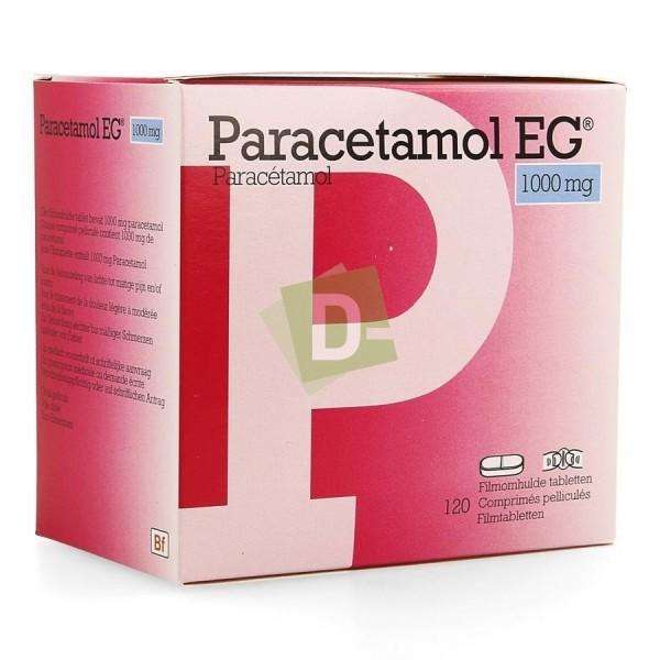 Paracétamol EG 1000 mg x 120 Comprimés pelliculés
