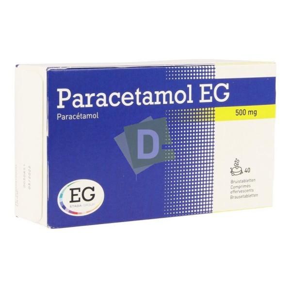 Paracétamol EG 500 mg x 40 Comprimés effervescents