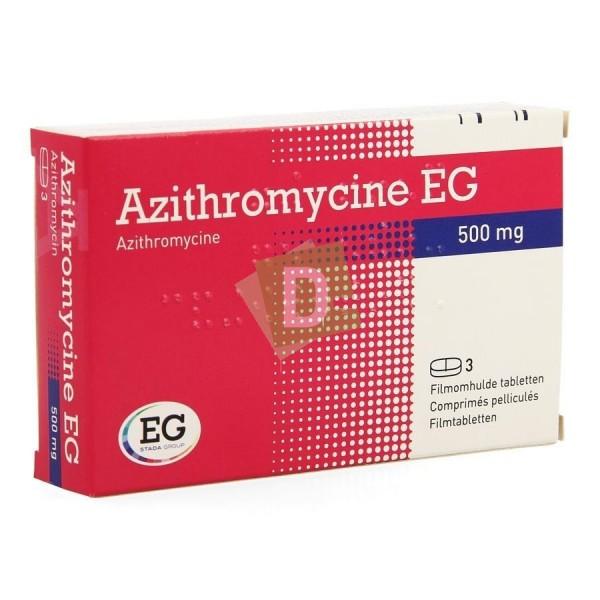 Azithromycin EG 500 mg x 3 Tablets