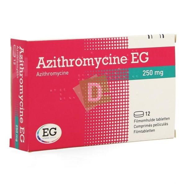 Azithromycin EG 250 mg x 12 Film-coated tablets