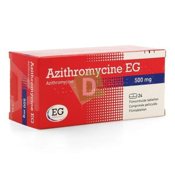 Azithromycine EG 500 mg x 24 Comprimés pelliculés