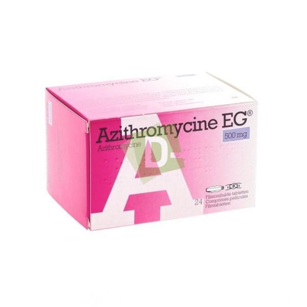 Azithromycin EG 500 mg x 24 Film-coated tablets