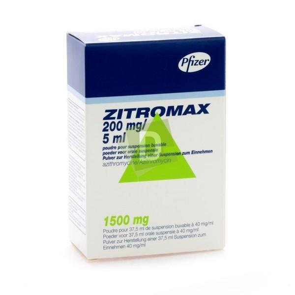 Zitromax 200 mg / 5 ml Suspension Buvable 37.5 ml