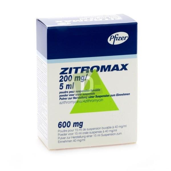 Zitromax 200 mg / 5 ml Suspension Buvable 15 ml