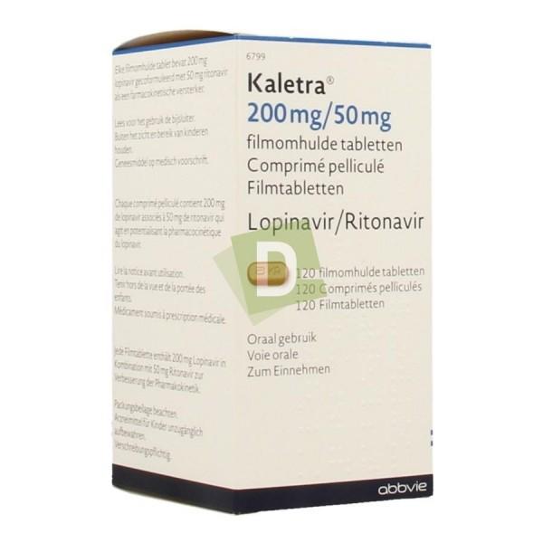 Kaletra 200 mg / 50 mg x 120 Comprimés pelliculés