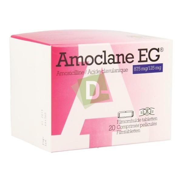 Amoclane EG 875 mg / 125 mg x 20 Comprimés pelliculés