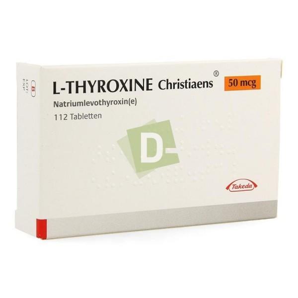 L-Thyroxine Christiaens 0.050 mg x 112 Tablets