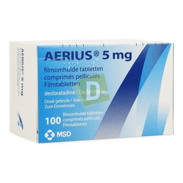 Aerius 5 mg x 100 Comprimés pelliculés