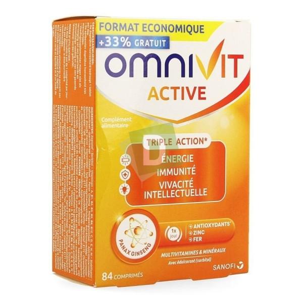 Omnivit Active Multivitamines et Minéraux 84 Comprimés