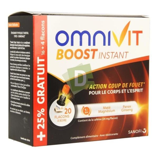 Omnivit Boost Instant 15 ml x 20 Flacons à boire