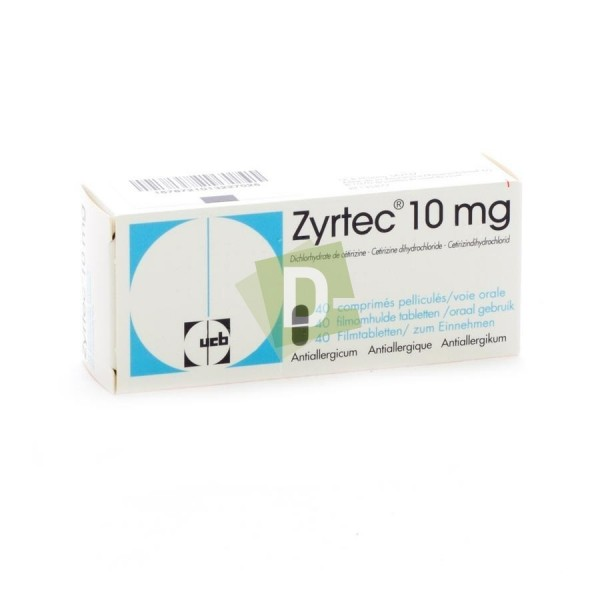 Zyrtec 10 mg x 40 Film-coated tablets