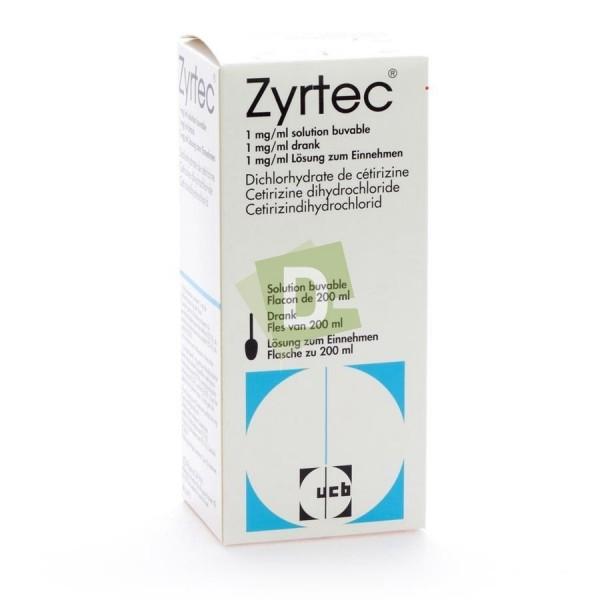 Zyrtec 1 mg / ml 200 ml Oral solution