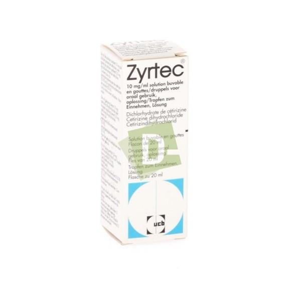 Zyrtec 10 mg / ml Gouttes 20 ml