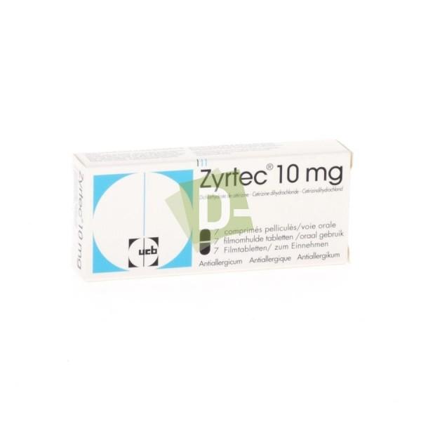 Zyrtec 10 mg x 7 Comprimés pelliculés