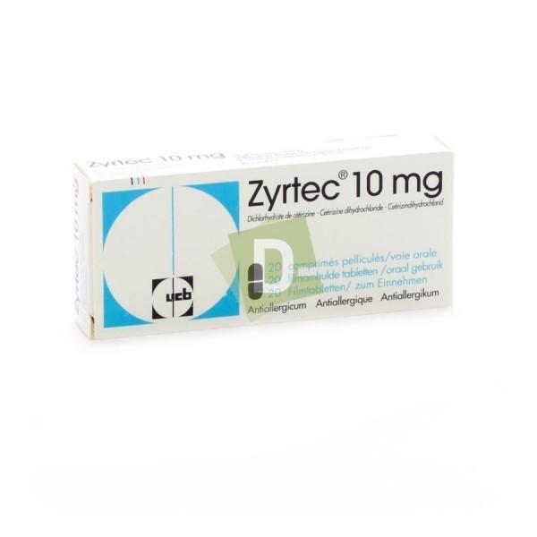Zyrtec 10 mg x 20 Comprimés pelliculés
