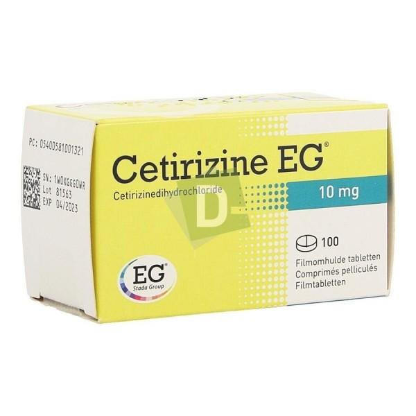 Cetirizine EG 10 mg x 100 Film-coated tablets