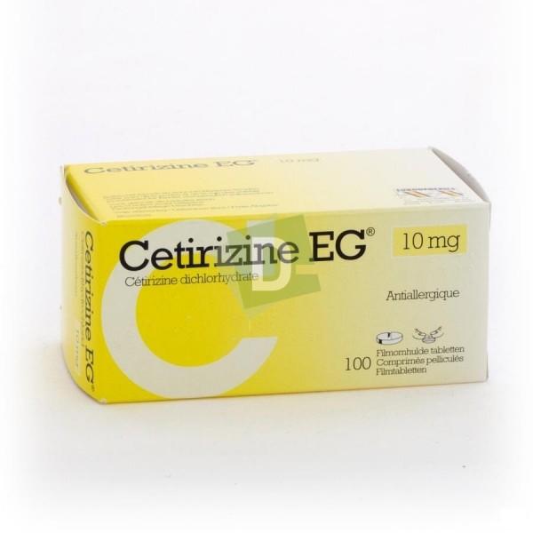 Cetirizine EG 10 mg x 100 Comprimés pelliculés