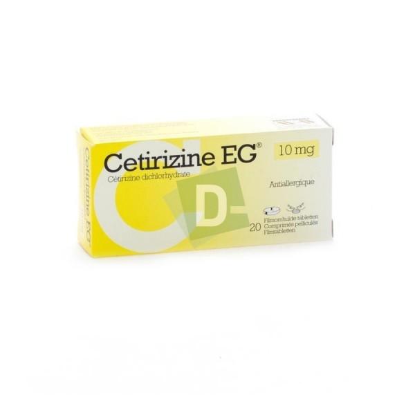 Cetirizine EG 10 mg x 20 Comprimés pelliculés