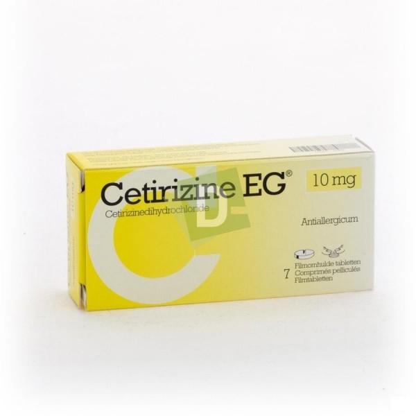 Cetirizine EG 10 mg x 7 Film-coated tablets