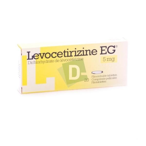 Lévocetirizine EG 5 mg x 20 Comprimés pelliculés