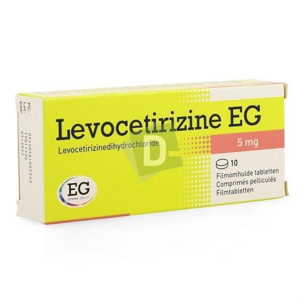 Lévocetirizine EG 5 mg x 10 Comprimés pelliculés