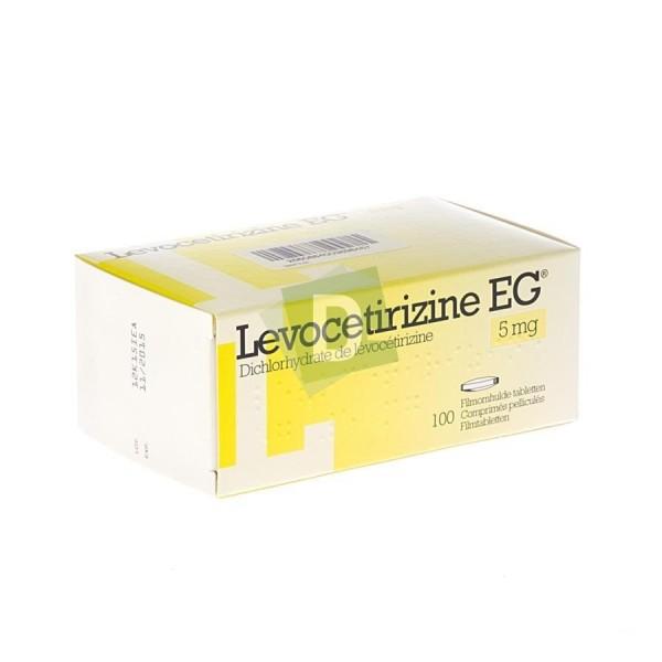 Lévocetirizine EG 5 mg x 100 Comprimés pelliculés