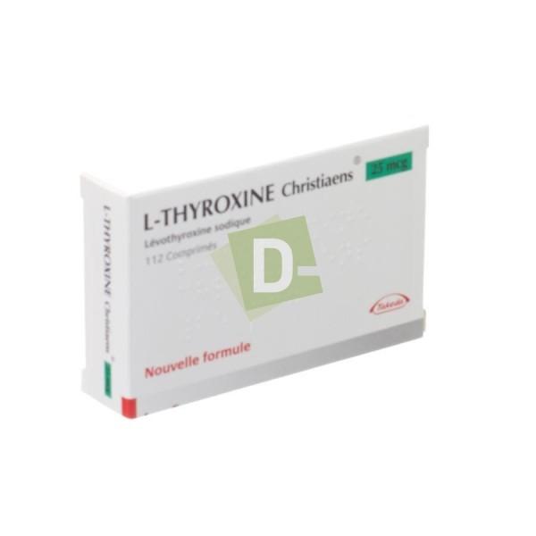 L-Thyroxine Christiaens 0.025 mg x 112 Comprimés
