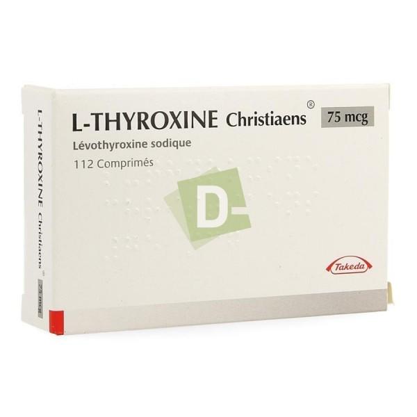 L-Thyroxine Christiaens 0.075 mg x 112 Comprimés