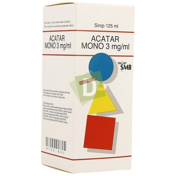Acatar Mono 3 mg/ml Sirop 125 ml