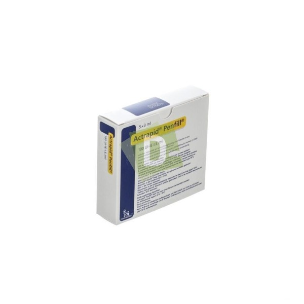 Actrapid Penfill 100 UI-IE /ml 5 x 3 ml