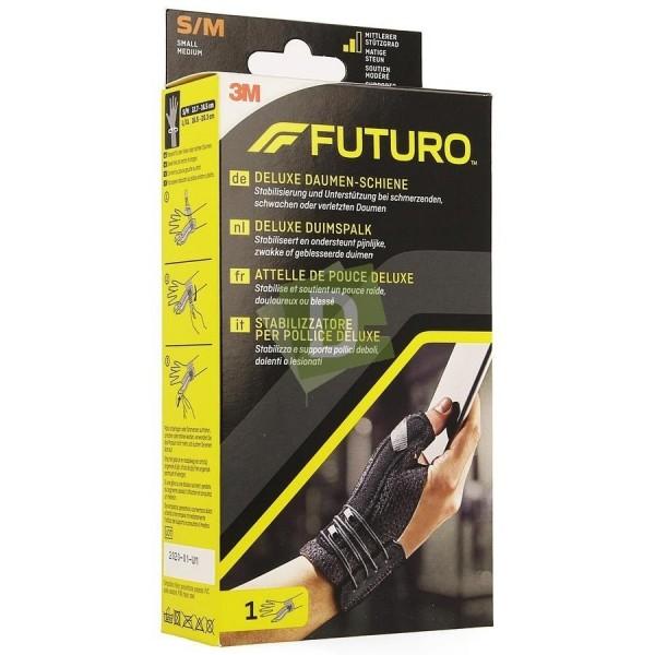 Futuro Attelle Pouce Deluxe Noir S-M (12.7 - 16.5 cm)