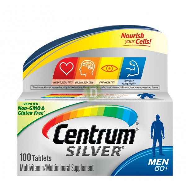 Centrum Silver Men 50+ Multivitamins 100 Tablets