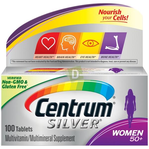 Centrum Silver Women 50+ Multivitamines 100 Comprimés
