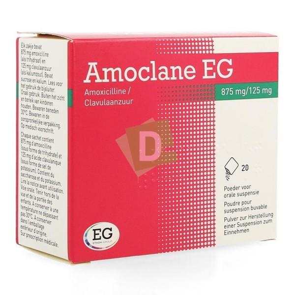 Amoclane EG 875 mg / 125 mg x 20 Sachets poudre