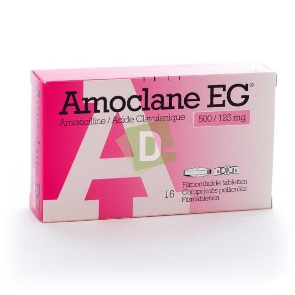 Amoclane EG 500 mg / 125 mg x 16 Comprimés pelliculés