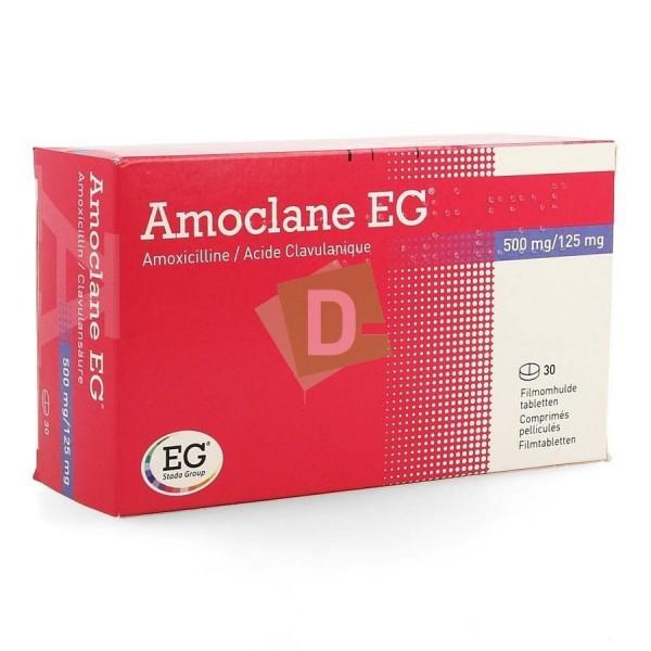 Amoclane EG 500 mg / 125 mg x 30 Comprimés pelliculés