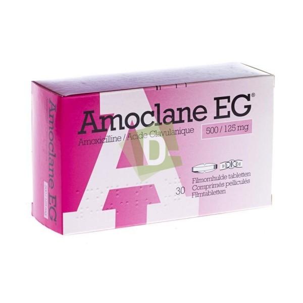 Amoclane EG 500 mg / 125 mg x 30 Film-coated tablets