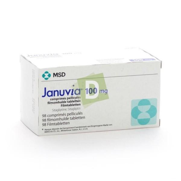 Januvia 100 mg x 98 Film-coated tablets