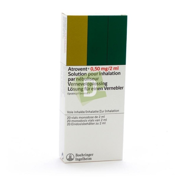 Atrovent Single Dose 0.50 mg / 2 ml x 20 vials
