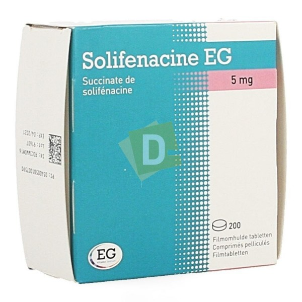 Solifénacine EG 5 mg x 200 Tablets