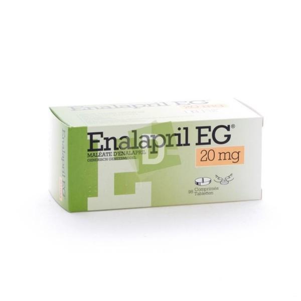 Enalapril EG 20 mg x 98 Comprimés : Aide à soigner l'hypertension artérielle