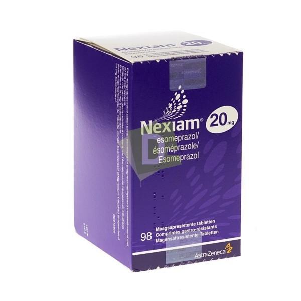 Nexiam 20 mg x 98 Gastro-resistant tablets