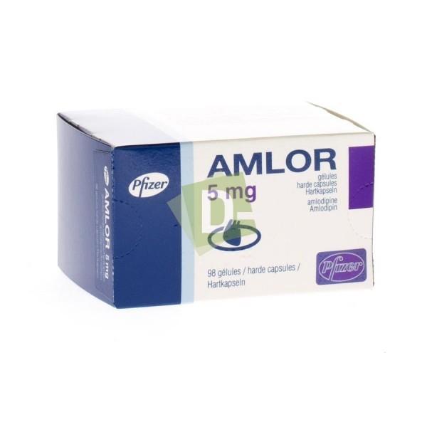 Amlor 5 mg boite de 98 Gélules D-Pharma