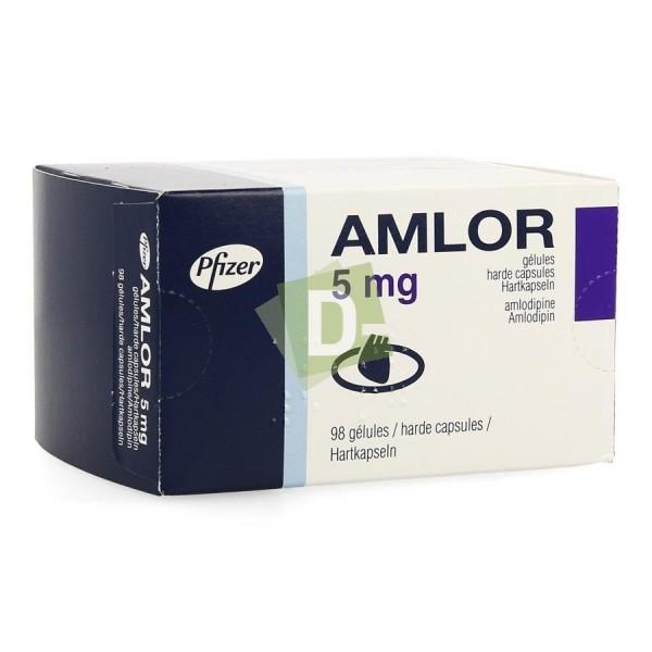 Amlor 5 mg x 98 Gélules