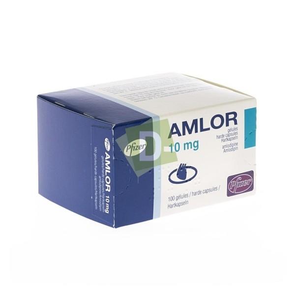 Amlor 10 mg x 100 Caps : Pills against High Blood Pressure