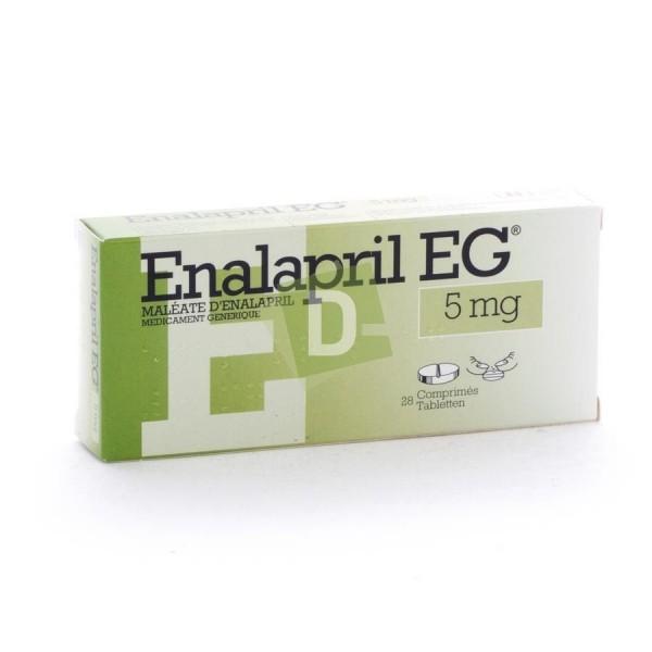 Enalapril EG 5 mg x 28 Tablets